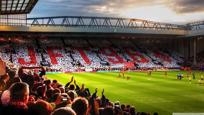 Liverpool FC's Anfield Stadium HD Wallpapers For PC [Free
